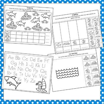 Ocean Theme Early Learning Preschool Packet