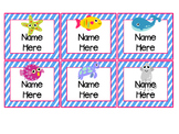 Ocean Theme Editable Name Tags