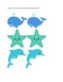Ocean Theme File Folder Game/ Matching