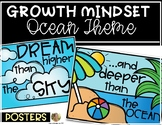Ocean Theme Growth Mindset Posters for the Classroom Kinde