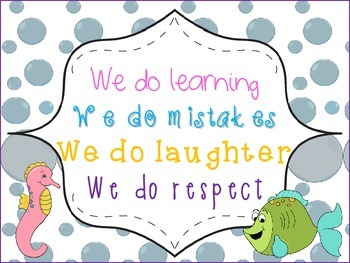 """""""In Our Classroom We Do"""" ... Poster Ocean Theme"""