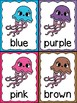 Ocean Theme/Jellyfish Color Word Posters & Memory Cards