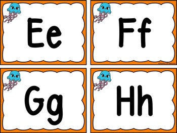 Ocean Word Wall Letters With Editable Word Page