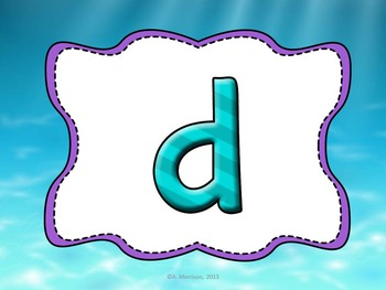 Ocean Theme Letters and Sounds MOVE IT!