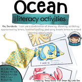 Ocean Animals Activities for Literacy - Preschool and Prek, Kindergarten