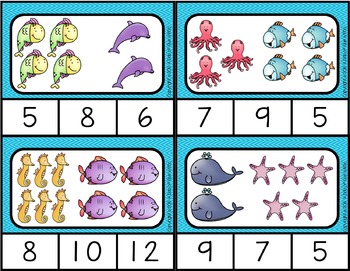 Ocean: Literacy and Math Centers