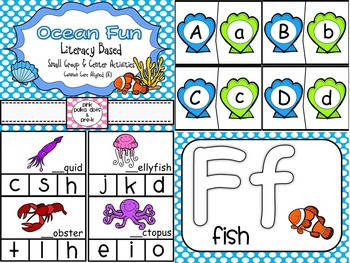 Ocean Theme Literacy Small Group and Center Activites