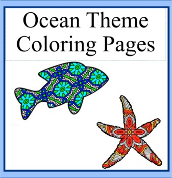ocean theme mandala and zentangle designs coloring book - Ocean Coloring Book