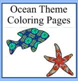 Ocean Theme Mandala and Zentangle Designs Coloring Book
