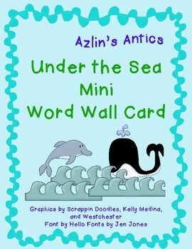 Ocean Theme Mini Word Wall Card