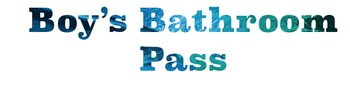 Ocean Theme Months, and Bathroom Passes