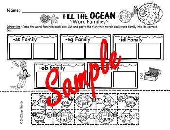 Ocean Theme NO PREP Math & Literacy Activities