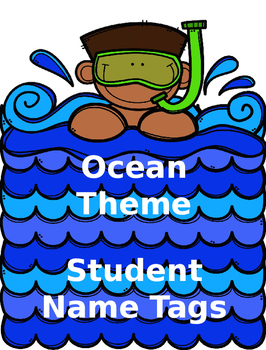 Ocean Theme Name Tags (Editable)