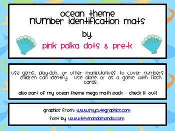 Ocean Theme Number Identification Mats (1 -- 20)