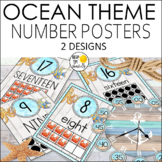 Ocean Theme Number Posters - Ocean Theme Classroom Decor