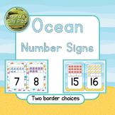 Ocean Theme Number Signs