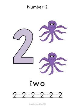 Ocean Theme Number Unit 1 -10