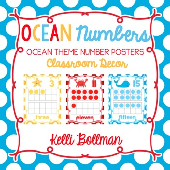 Ocean Theme Numbers {Classroom Decor Posters}