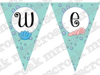 Classroom Pennants: Ocean Themed