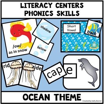 Sea Life Ocean Theme Phonics Centers
