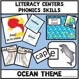 Phonics Centers - Sea Life Ocean Theme