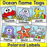 Ocean Theme Polaroid Name Tags Labels - Under the Sea Theme