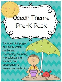 Ocean Theme Preschool Pack