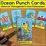 Ocean Theme Punch Cards Behavior Management Tool - Under the Sea Theme