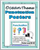 Ocean Theme Classroom Decor Punctuation Grammar Posters