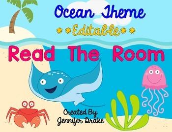 Ocean Theme Read the Room EDITABLE