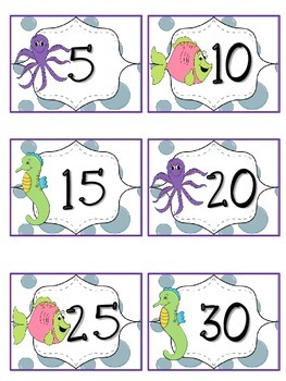 Reading Points by 5s Ocean Theme