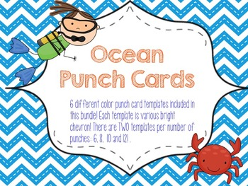 Punch Cards Template Teaching Resources Teachers Pay Teachers - Reward punch card template
