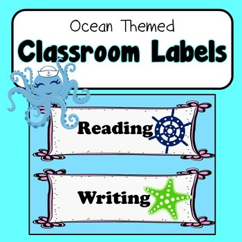 Ocean Theme Room Labels