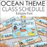 Daily Schedule Cards - Editable! Ocean Theme Classroom Decor