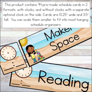 Daily Schedule Cards - Editable! Ocean Theme Classroom Decor