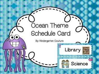 Ocean Theme Schedule Cards