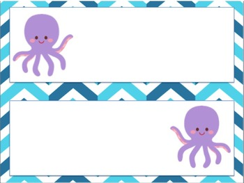 Under the Sea Ocean Theme Schedule Cards- Editable