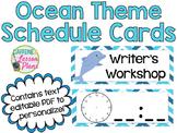 Under the Sea Ocean Theme Schedule Cards- Editable