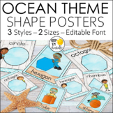 Ocean Theme Shape Posters: Ocean Theme Classroom Decor