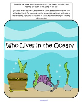Ocean Animals Shapebook - Who Lives in the Ocean?