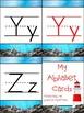 Ocean Theme Simplistic Design Alphabet Posters