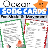 Ocean Themed Music and Movement Song Cards