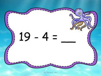 Ocean Theme Subtraction Facts to 20 MOVE IT!