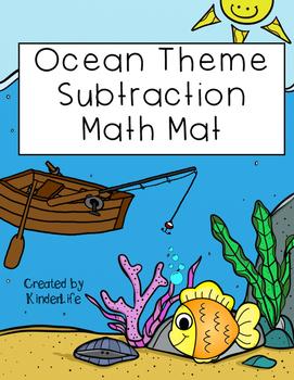 Ocean Theme Subtraction Math Mat