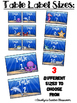 Ocean Theme Table Labels (Baskets, Table Points, Containers)