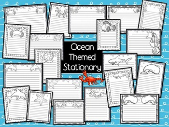 Ocean Theme- Table Numbers and Stationary!