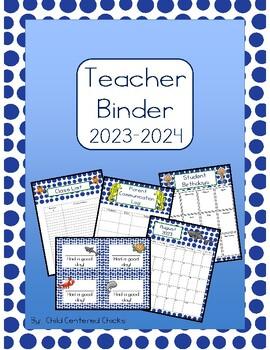 Teacher Organizational Binder 2017-2018 Ocean Theme