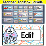 Ocean Theme Teacher Toolbox Labels - Under the Sea Theme