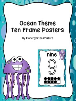 Ocean Theme Ten Frame/Number Posters
