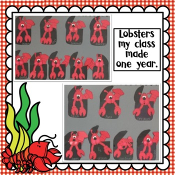 Ocean Crafts: Lobster Crafts: Summer Crafts